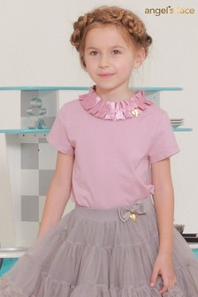 Angel's Face Pink Jane Pleated Collar Top
