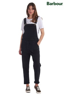 Barbour® Heritage Black Denim Maddison Dungarees