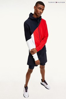 Tommy Hilfiger Blue Blocked Terry Hoody