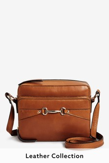 Signature Leather Hardware Across-Body Bag