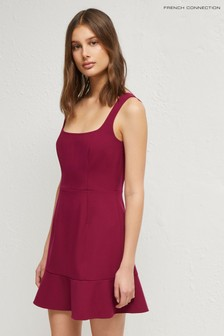French Connection Pink Dorotea Flare Strappy Dress
