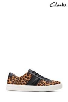Clarks Leopard PRT Pony Un Maui Band Shoes