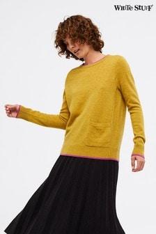 סוודר של White Stuff דגם Cashmere Laurel בצהוב