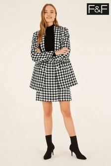 F&F Black Dogtooth Skirt