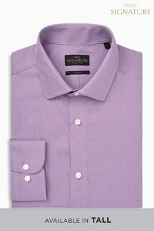 Teksturowana koszula Signature o dopasowanym kroju