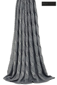 Metallic Cable Chunky Knit Throw by Riva Home
