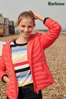 Barbour® Coastal Coral Ashore Hooded Quilted Jacket