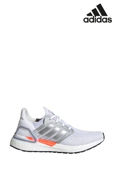 adidas White/Silver Ultraboost 20 Trainers