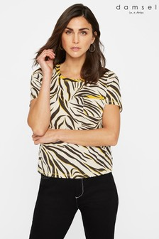 Damsel In A Dress Yellow Evolette Animal T-Shirt