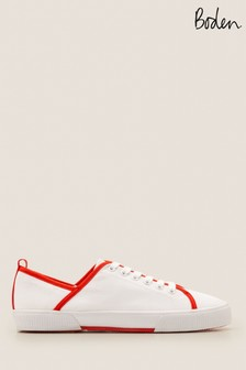 Boden Red Laurie Plimsolls