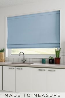 Cotton Blue Made To Measure Roman Blind