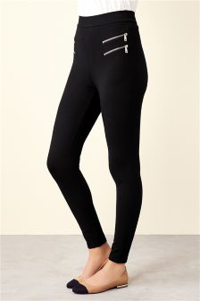 Zip Detail Ponte Leggings