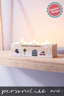 Personalised Family Tealight Holder by Oakdene Designs