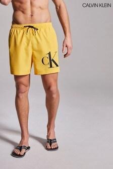 Calvin Klein Yellow CK One Drawstring Swim Shorts
