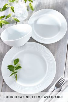 Malvern Embossed 12 Piece Dinner Set