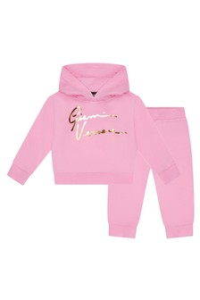 Versace Baby Pink Cotton Tracksuit