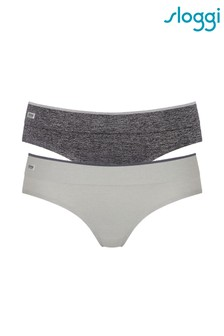 Sloggi Grey Move Seamless Sports Hipster Two Pack