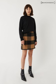 Warehouse Natural Blanket Check Pelmet Skirt