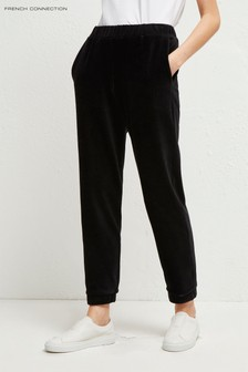 French Connection Black Renata Corduroy Jersey Joggers