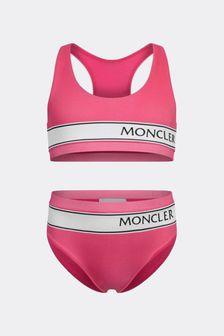 Girls Pink Logo Bikini