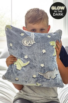 Glow In The Dark Fleece Dinosaur Cushion