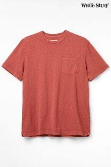 White Stuff Red Vegetable Dye Pocket T-Shirt