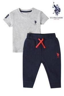 U.S. Polo Assn. Player Polo & Joggers Set