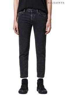 AllSaints Black Dean Slim Jeans