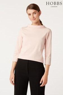 Hobbs Pink 3/4 Sleeve Audrey T-Shirt