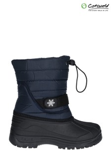 Cotswold Blue Icicle Toggle Lace Snow Boots