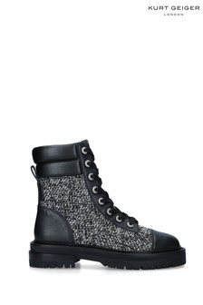 Kurt Geiger London Grey Shore Biker Boots