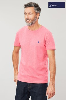 Joules Pink Denton Solid Crew Neck T-Shirt