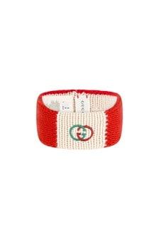 Girls Red Knitted Headband