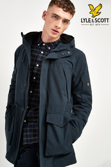 Lyle & Scott Navy Panelled Parka