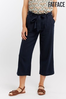 FatFace Blue Brooke Cropped Trouser