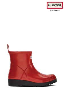 Hunter Red Play Pearlised Short Boots