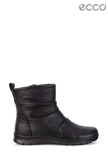 ECCO Black Back Side Zip Rouch Boots