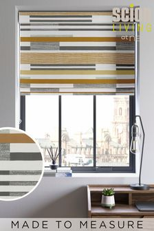 Scion Living Exclusively at Next Ochre Parwa Made to Measure Roman Blind
