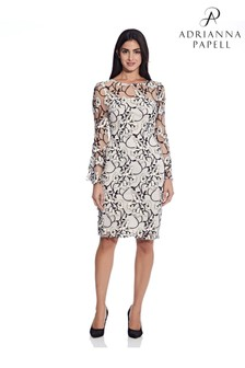 Adrianna Papell Pink Floral Embroidered Sheath Dress