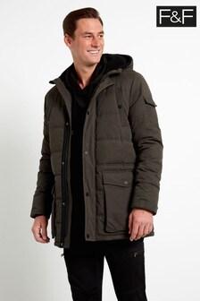 F&F Khaki Parka Baffle Coat