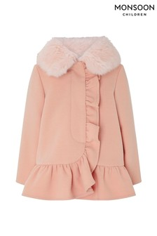 Monsoon Children Pink Baby Alice Coat