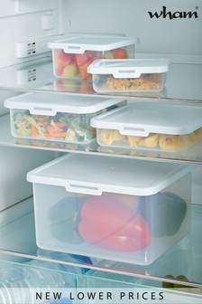Set of 5 Food Locker Food Storage Boxes by Wham