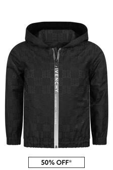 Givenchy Kids Boys Black Cotton Jacket