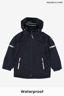 Polarn O. Pyret Blue Waterproof Shell Coat