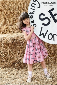 Monsoon Children Pink S.E.W Sophia Dog Dress