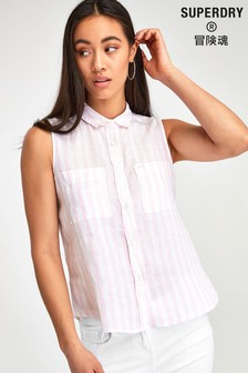 Superdry Pink Stripe Sleeveless Top