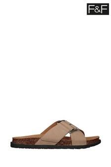 F&F White Sandals