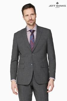 Jeff Banks Grey Regular Fit Travel Suit Jacket