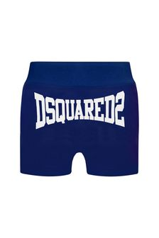 Dsquared2 Kids Baby Boys Blue Cotton Shorts