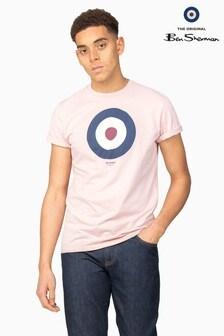 Ben Sherman Main Line Pink Target T-Shirt